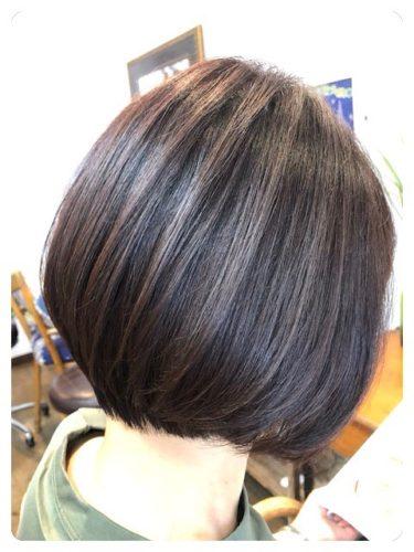 髪質改善ストレートボブでツヤ髪