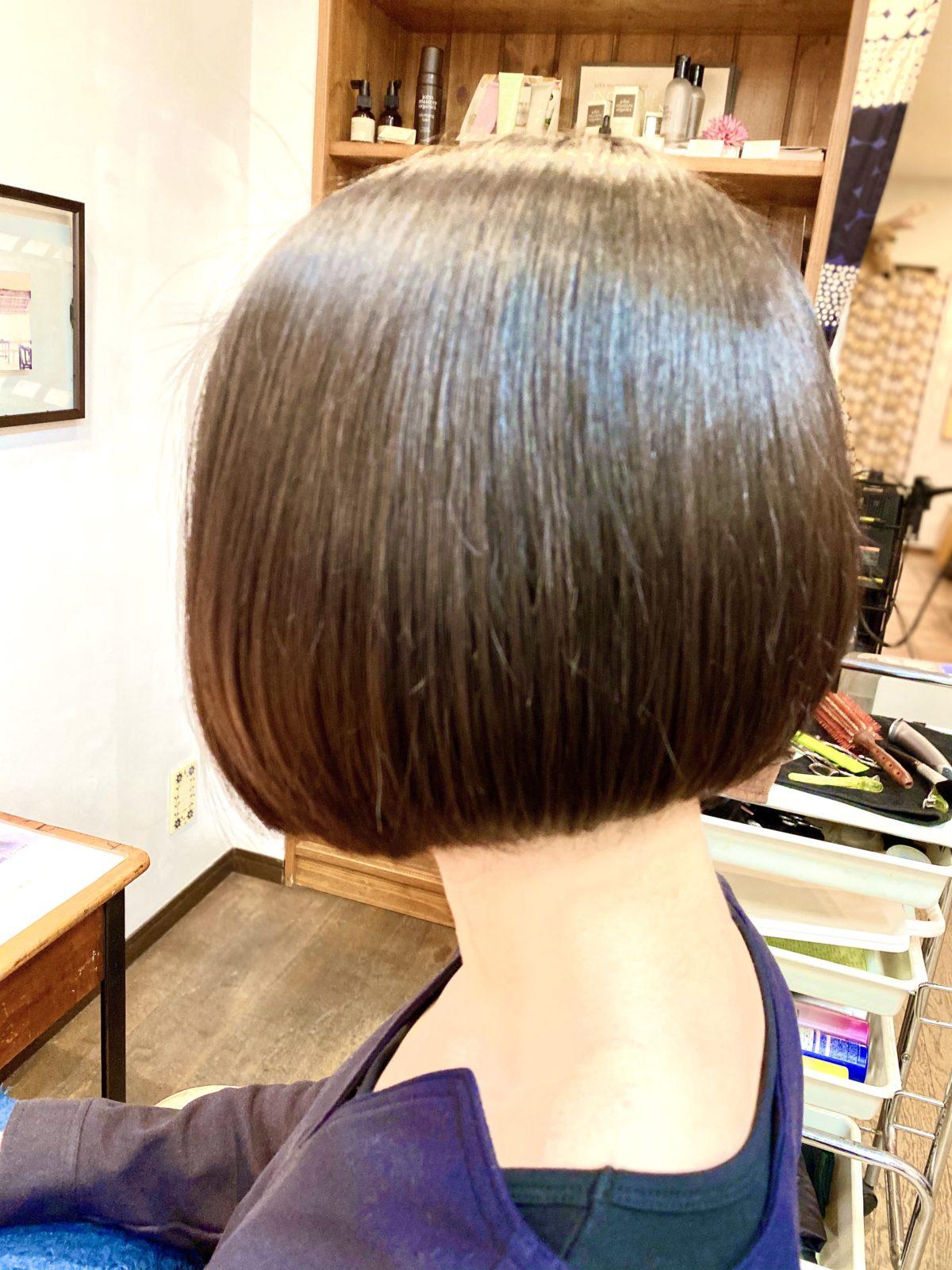 大人クールボブ!! 髪質改善カラー