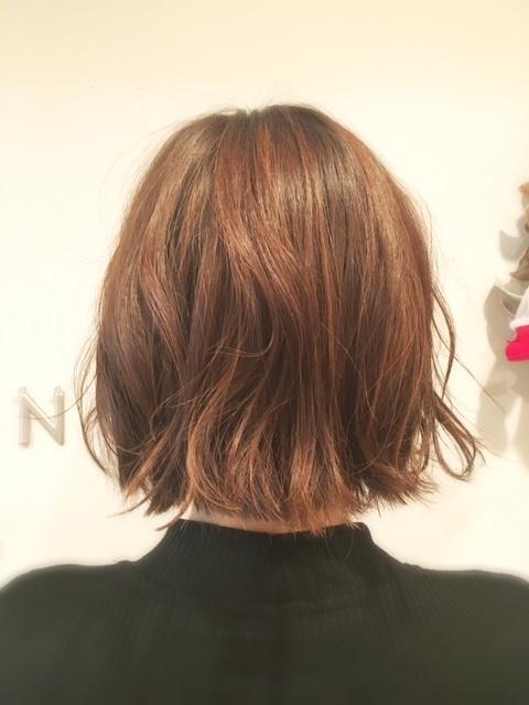 髪質改善前のヘアスタイル
