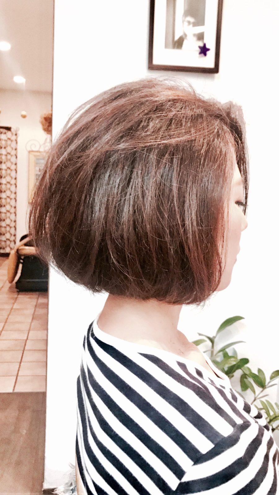 髪質改善オーガニックカラーアッシュグレージュ!