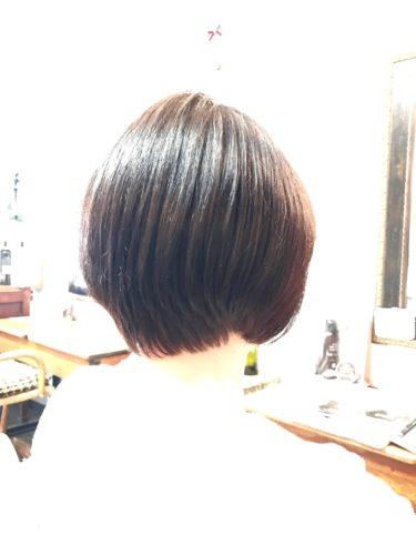 ツヤツヤ髪質改善カラー後の写真