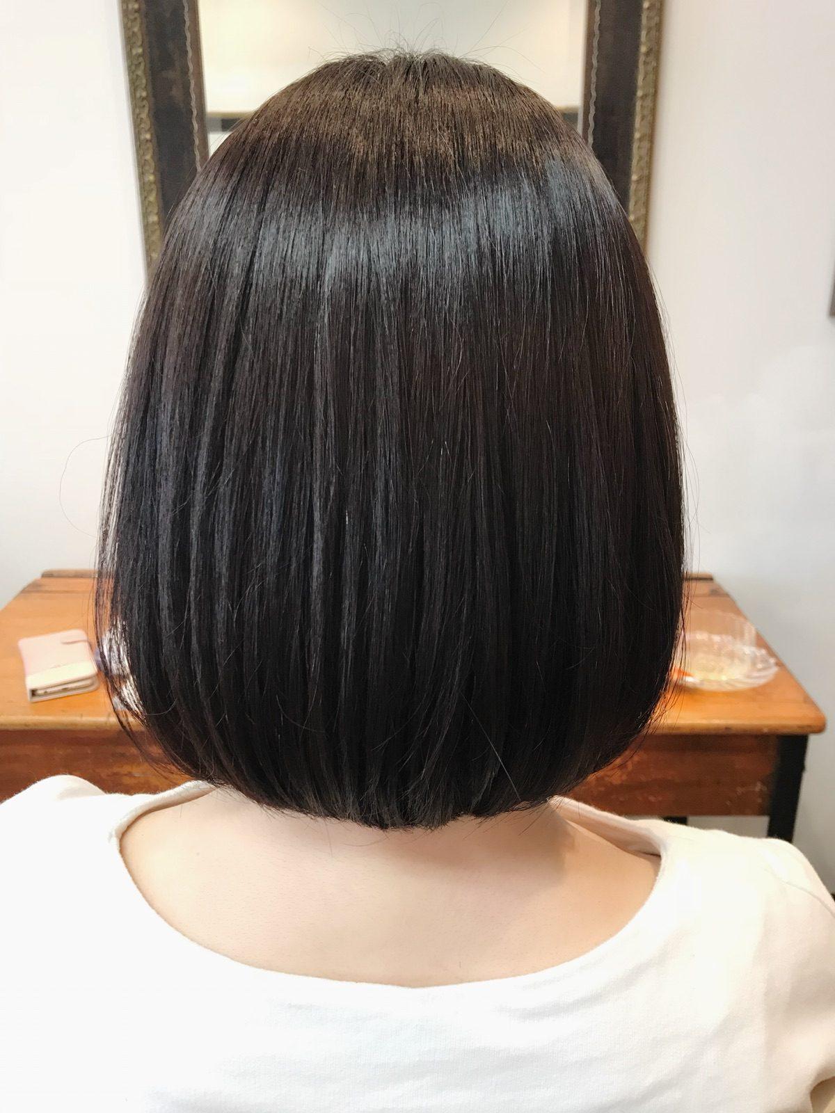 髪質改善オーガニックカラーダークアッシュ!
