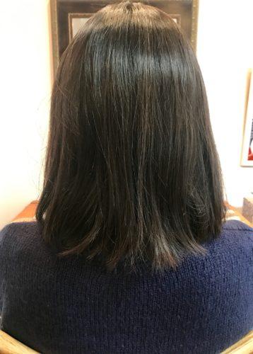 髪質改善ストカールをする前の写真