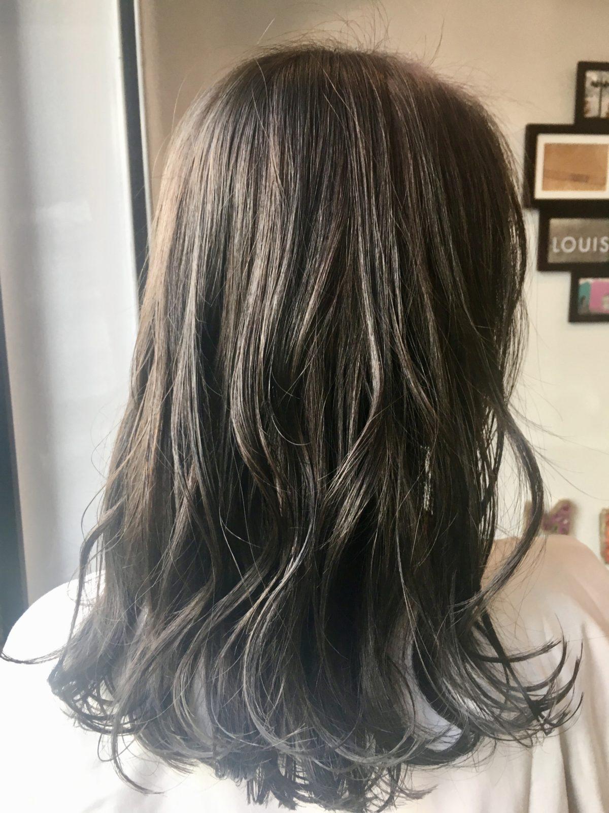 ロングレイヤー髪質改善パーマ 自由が丘美容室mieno