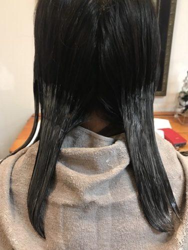 髪質改善デジタルパーマ1液塗布!
