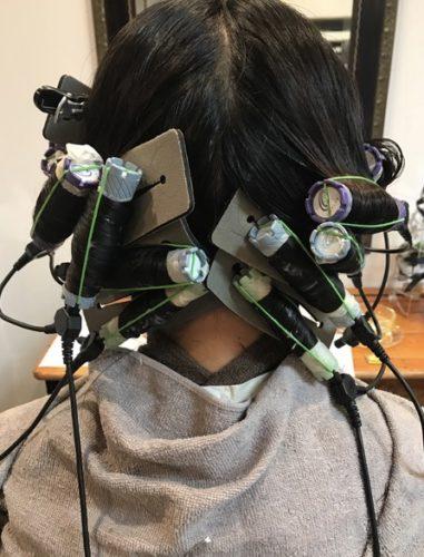 髪質改善デジタルパーマ加温中!