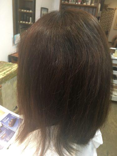 髪質改善ストレートをかける前の写真