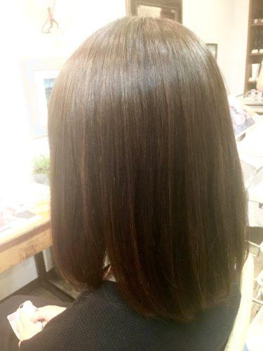 髪質改善ストレートをかけた後の写真