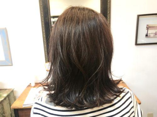 髪質改善ストカールをした後の写真