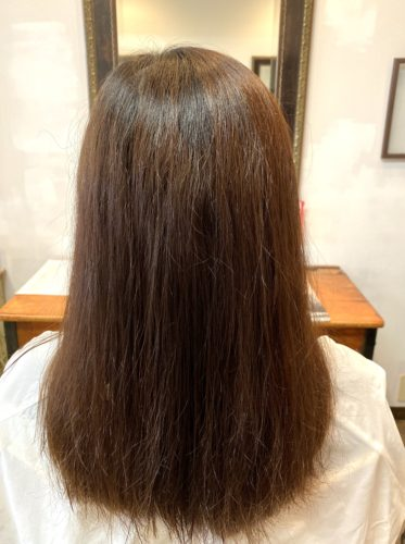 髪質改善前の写真