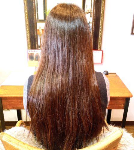 髪質改善ストレートのお客様施術前のお写真