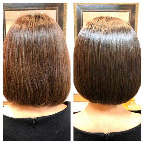 髪質改善ビフォー&アフターの写真