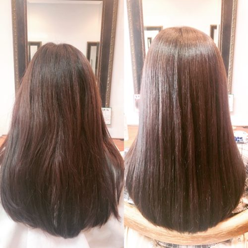 髪質改善ストレート写真