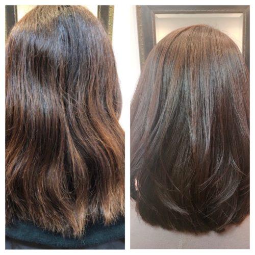 髪質改善パーマビフォーアンドアフター