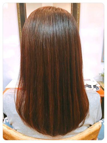 自然な仕上がり髪質改善ストレート