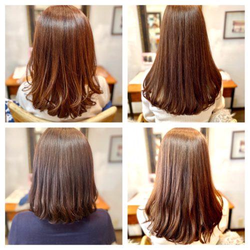髪質改善パーマと髪質改善ストカールは自然なツヤ髪ストレート