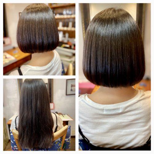 髪質改善ストレート ビフォー&アフター写真