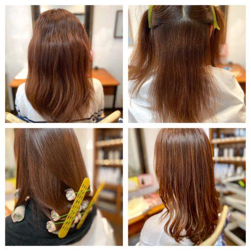 髪質改善ストカール工程